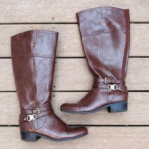Unisa brown leather riding boots size 10
